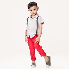Boys' Light Taupe Party Shirt | Le Petit Society