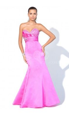 Stunning Mermaid Strapless Sweetheart Long Prom Evening Dresses with Beaded.$219.99