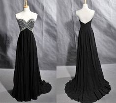 Stunning A-line Sweetheart Court Train Prom/Evening Dress with Rhinestones