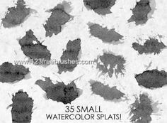 Small Watercolor - Download  Photoshop brush https://www.123freebrushes.com/small-watercolor/ , Published in #GrungeSplatter. More Free Grunge & Splatter Brushes, http://www.123freebrushes.com/free-brushes/grunge-splatter/   #123freebrushes
