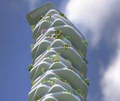 """""""Oxygen Eco-tower, your villa in the sky"""". The design strategy aims at upgrading the traditional concept of villas, through a new residential tower reflecting a sustainable vision that develops upwards, to minimize the use of the soil in..."""
