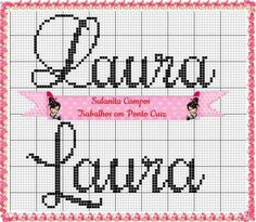 Cross Stitching, Cool Designs, Perler Beads, Stitches, Disney, Cross Stitch Letters, Female Names, Monogram Alphabet, Embroidery Patterns
