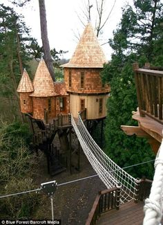 How To Build A Treehouse ? This Tree House Design Ideas For Adult and Kids, Simple and easy. can also be used as a place (to live in), Amazing Tiny treehouse kids, Architecture Modern Luxury treehouse interior cozy Backyard Small treehouse masters Luxury Tree Houses, Tree House Designs, In The Tree, Play Houses, My Dream Home, Dream Homes, Glamping, Future House, Around The Worlds