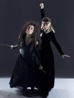 Bellatrix and Narcissa, you've gotta love these wicked sisters. Particularly Bellatrix...I love Helena's facial expressions.
