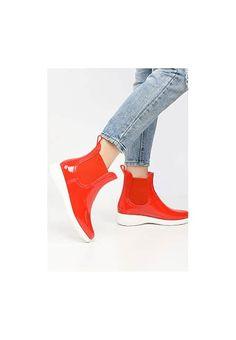 Cizme de cauciuc Calcutta Rosii Calcutta, Heeled Mules, Wedges, Navy, Heels, Fashion, Hale Navy, Heel, Moda
