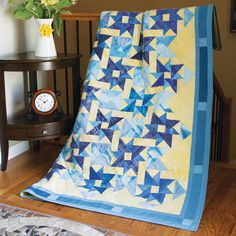 MIDNIGHT REFLECTION: One-Block Lap Quilt Pattern Designed by JANET JO SMITH Just one quilt block design creates a marvelous sense of movement and depth in this large lap quilt pattern. Midnight Reflection is a piecing challenge, but the results are so worthwhile! Pattern in the September/October 2016 issue of McCall's Quilting