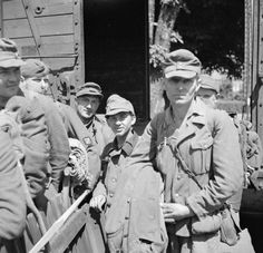 Latvian SS captured by the British on May 2, 1945. Collaborationist POW troops from eastern Europe were usually turned over to the Russians, who did not hesitate to shoot most of them within hours. Wearing an SS uniform almost guaranteed your passing to the Russian side.