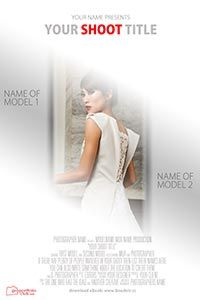 free movie poster template for wedding photography and videography
