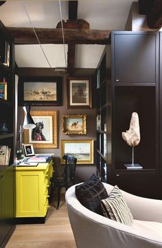 .love the art in this small office space