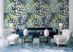 In the shade of leaves • Classic - Living room - Wall Murals - Stickers ✓ 365 Day Money Back Guarantee ✓ Consulting on the Pattern Selection ✓ 100% Safe✓ Set up online!