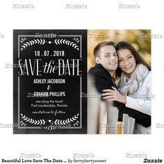 Beautiful Love Save The Date Postcard