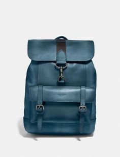 Bleecker Backpack | COACH Mens Backpack Work, Best Leather Backpack, Leather Backpacks, Men's Backpack, Fashion Backpack, Mens Travel, Work Bags, Designer Bags, Mens Clothing Styles