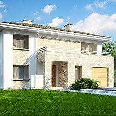 Dom z pełnym piętrem, 4 sypialniami, garażem oraz gabinetem w parterze.