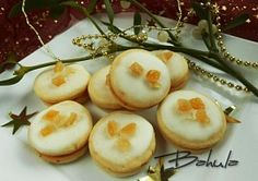 Moje vánoční cukroví Christmas Cookies, Sushi, Garlic, Coconut, Baking, Vegetables, Fruit, Breakfast, Ethnic Recipes