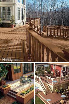 Deck Designs: Get deck ideas and plans to help build your dream deck. Read more: http://www.familyhandyman.com/decks/designs