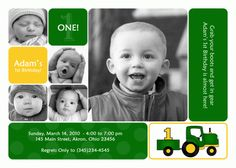John Deere birthday invitations.