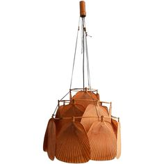 Rare Ju-Ku Ceiling Lamp by Ingo Maurer, 1970s | From a unique collection of antique and modern chandeliers and pendants at https://www.1stdibs.com/furniture/lighting/chandeliers-pendant-lights/
