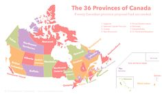 And this one shows what it would look like now, if every province proposal had actually succeeded. 15 Interesting Maps That Will Change The Way You See Canada Canada For Kids, Canada Canada, Canadian Confederation, Ontario, Province Du Canada, Yukon Territory, Northwest Territories, St Pierre And Miquelon, Alternate History