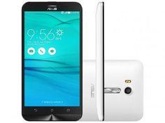 "Smartphone Asus ZenFone Go Live 16GB Branco - Dual Chip 4G Câm. 13MP + Selfie 5MP Tela 5.5"" HD"