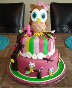 owl cakes for babies first birthday | First Birthday OWL cake — Owl Cake Contest 2012