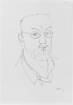 Self-Portrait Henri Matisse (French, Le Cateau-Cambrésis Nice) Date: 1944 Line Drawing, Drawing Sketches, Painting & Drawing, Art Drawings, Painting Lessons, Henri Matisse, Matisse Drawing, Matisse Art, Galaxy Drawings