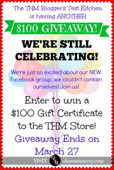 We're so EXCITED about our new Facebook group! Here's ANOTHER $100 giveaway! Click to enter!