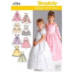 4764 Simplicity £6.50 kids costume dresses