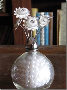 mini buttons bouquet