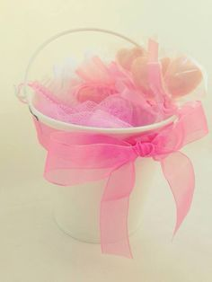 Gift Bucket full of Beauty Treats & Soap. In Pink or Blue.  Mother's Day. Wedding Favour. Bridesmaids. Cute.