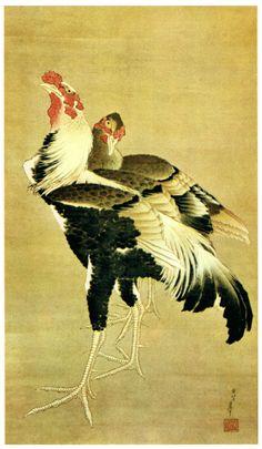 Hokusai and Japanese Art Monte Fuji, Katsushika Hokusai, Chicken Art, Korean Art, Japanese Painting, Japanese Prints, Japan Art, Western Art, Chinese Art