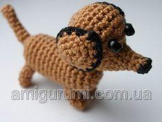Free Amigurumi Dachshund Pattern : Free pattern u teeny tiny dachshund amigurumi logos amigurumi