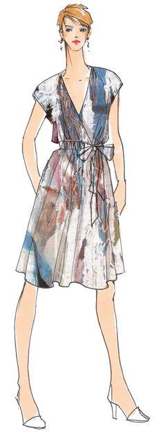 Wickelkleid Olivia, luftiges Sommerkleid mit schönem V-Ausschnitt