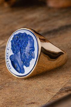 size 8 Sodalite bezel-set in Fine Silver on Sterling Silver Beautiful Storm Ring