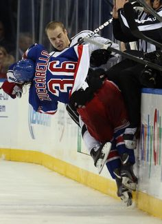 Mats Zuccarello #36 New York Rangers and Dustin Brown #23 Los Angeles Kings