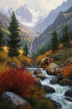 горный пейзаж - Схемы вышивки - Nat6 - Авторы - Портал «Вышивка крестом»