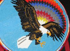 Gorgeous eagle and beadwork, via Flickr.