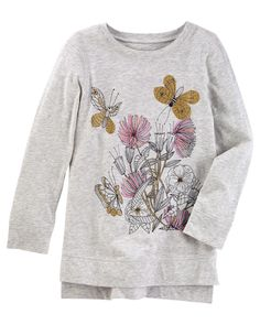 Kid Girl Embellished Tunic from Carters.com. Shop clothing & accessories from a trusted name in kids, toddlers, and baby clothes.