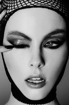 Wylie Hays by Fernando Gomez for Elle Indonesia fishnet