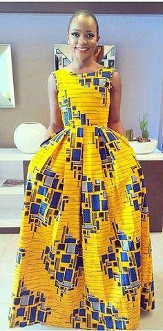 """Résultat de recherche d'images pour """"robe longue wax africain"""""""