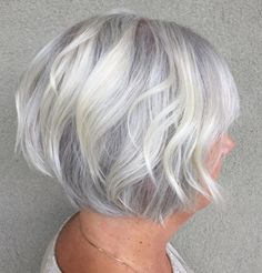 90 Classy and Simple Short Hairstyles for Women over 50 Short Wavy Silver Bob Hairstyles Over 50, Short Hairstyles For Women, Easy Hairstyles, Straight Hairstyles, Pixie Hairstyles, Scene Hairstyles, Hairstyle Short, Bob Haircuts, Pretty Hairstyles