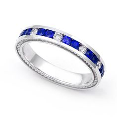 14k White Gold Channel set Diamond and Blue Sapphire Wedding Band Ring (G-H/SI, 1/3 ct.), 8 Juno Jewelry,http://www.amazon.com/dp/B003EO5TVE/ref=cm_sw_r_pi_dp_bay-sb16EVHDVD92