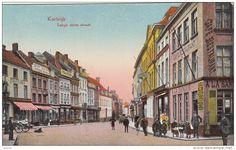 Kortrijk De Lange Steenstraat uit de oude doos, iemand die in #teletijdmachine wilt?