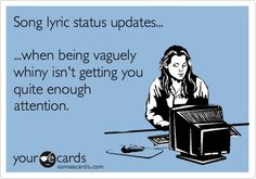 Song Lyric Status Updates