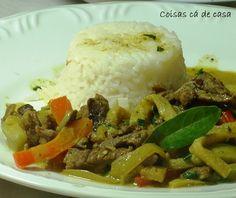 Coisas cá de casa: Picadinho de carne e berinjela ao curry