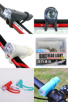 [Visit to Buy] Silicone Bicycle LED Light White Cycling Cycle Bike Front Night Safety Flashlight LED Head Lamp Flash Lights Waterproof #Advertisement