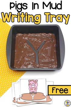 Pigs In Mud Alphabet Writing Tray: Multi-Senosry, Letter Formation Activity Use the Pigs In Mud Alphabet Writing Tray to practice letter formation. Kids will develop their fine motor skills with this multi-sensory activity. Pre K Activities, Letter Activities, Preschool Learning Activities, Preschool At Home, Fun Learning, Nursery Class Activities, 3 Little Pigs Activities, Preschool Farm, Childcare Activities