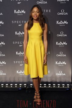 "Naomie Harris in Michael Kors at the ""SPECTRE"" event in Berlin, Germany."