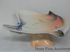 Art Nouveau Style Franz Chinese Pottery Porcelain Dragonfly Cake Plate VX   eBay...