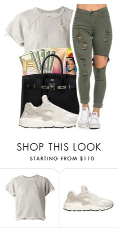 """Untitled #421"" by mindset-on-mindless ❤ liked on Polyvore featuring beauty, NSF and NIKE"