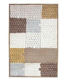 Brown Modern Geometric Rug